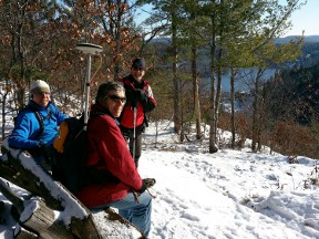Work Crew overlooking Gatineau River